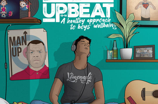 Artwork for Front Cover adn Sleeve of the Upbeat book