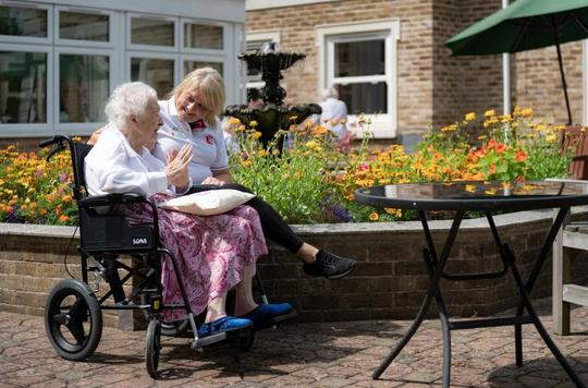 Care homes and old people