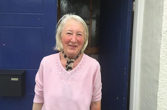 Barbara volunteers in Abergavenny
