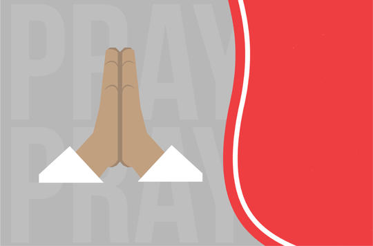 Graphic of hands praying
