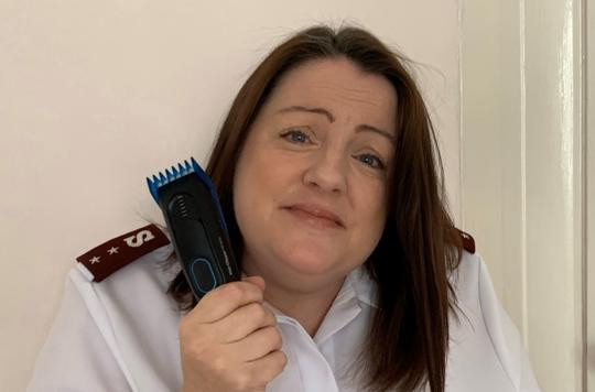 Alison Friday with clippers