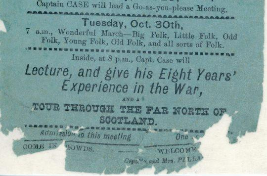 Extract from Birkenhead Salvation Army flyer