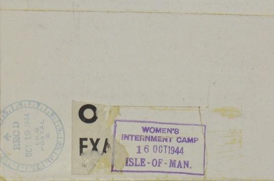 'Women's Internment Camp Isle of Man' stamp