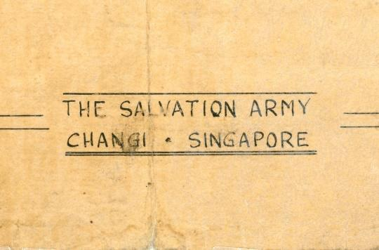 Section of the cover of 'The Liberator', a Salvation Army magazine published in Changi internment camp
