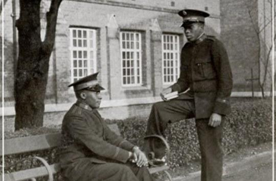 Photograph of Captains Kanyele and Munyi