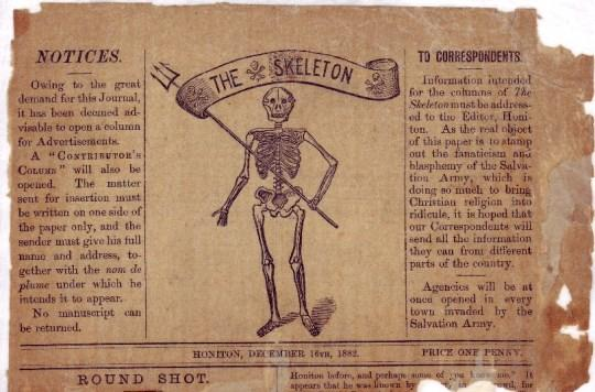 'The Skeleton' newspaper produced in opposition to The Salvation Army