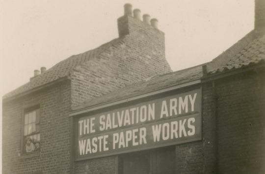 Salvation Army waste paper works