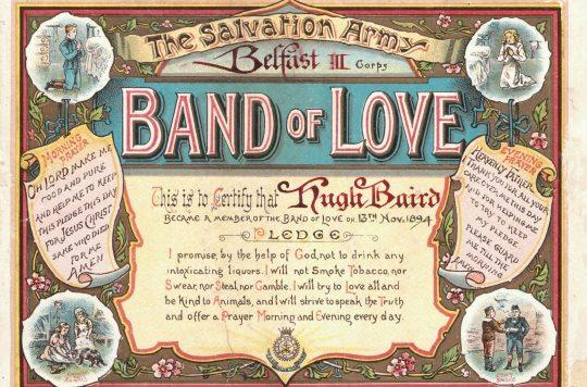 Band of Love certificate