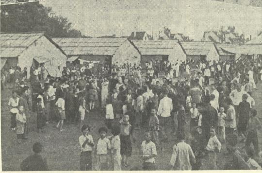 Refugee camp in China