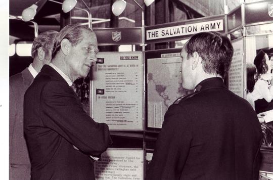 Prince Philip meets with Salvation Army officer in 1981