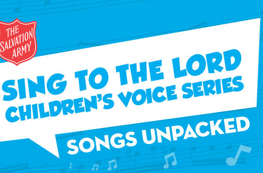 Sing to the Lord Unpacked