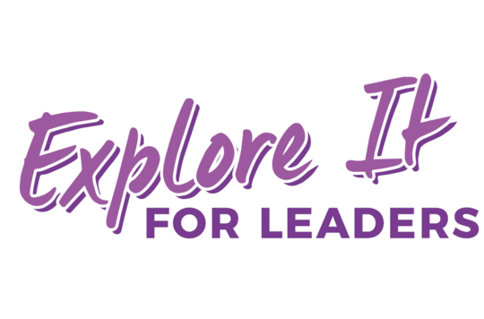 Explore It 'for leaders' logo in purple