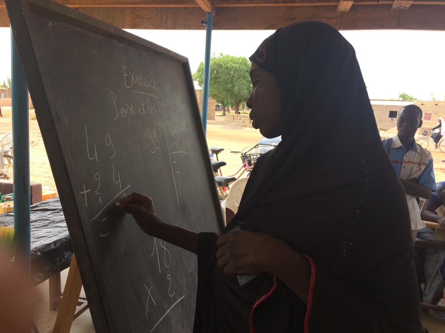 Salvation Army teaching literacy skills in Burkina Faso