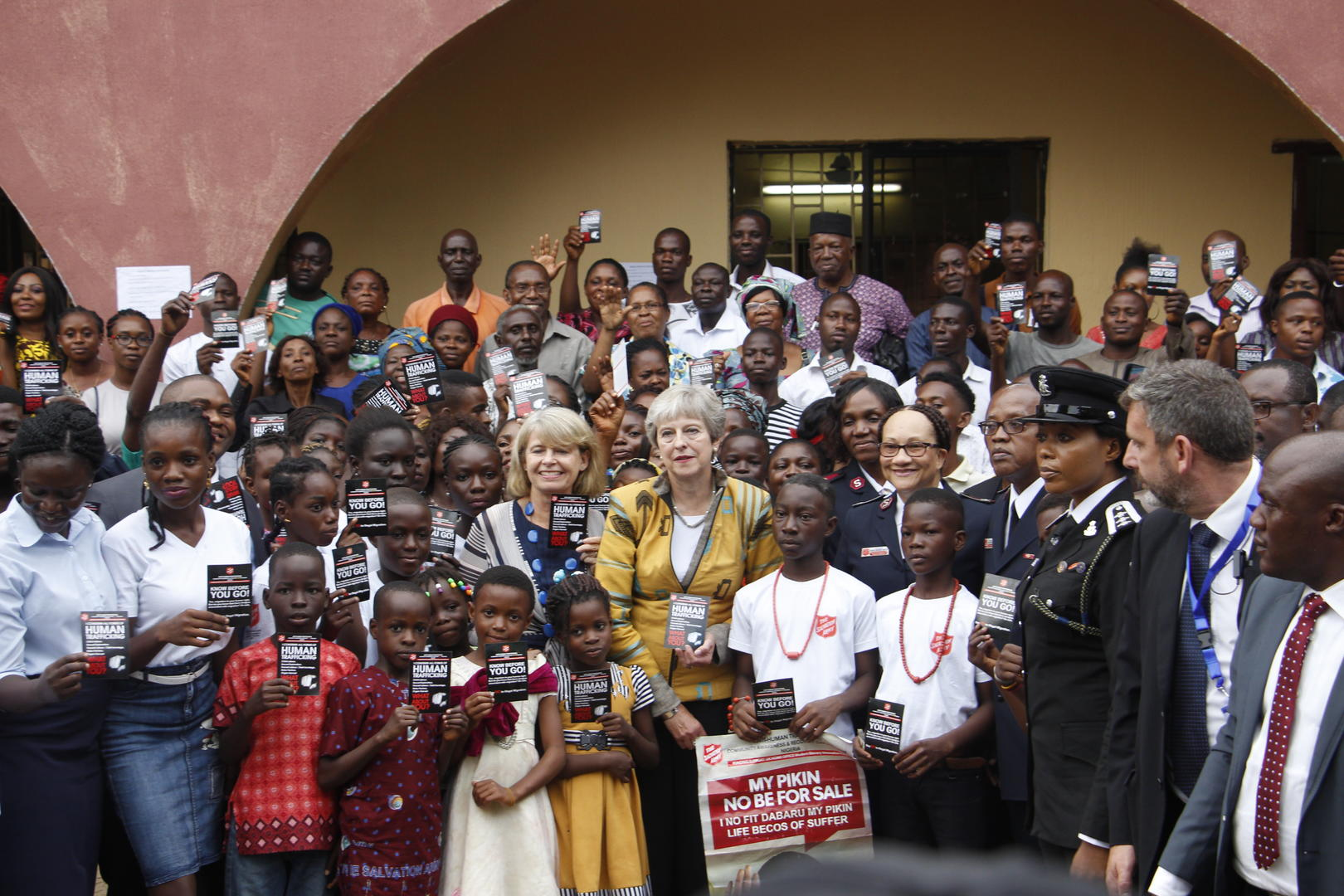 Theresa May Salvation Army modern slavery project Salvation Army