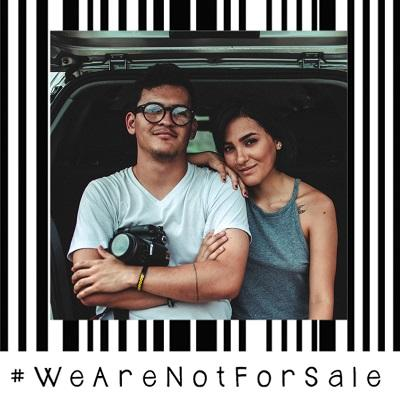 We are not for sale Facebook frame