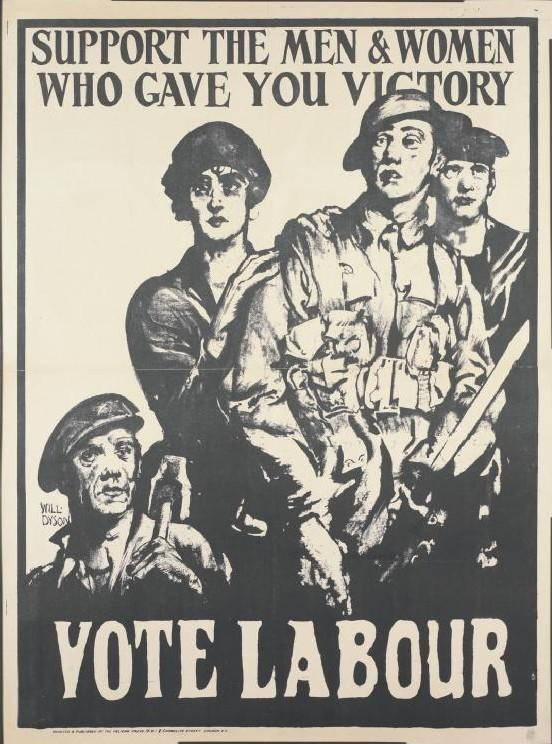 Labour Party campaign poster from c.1918