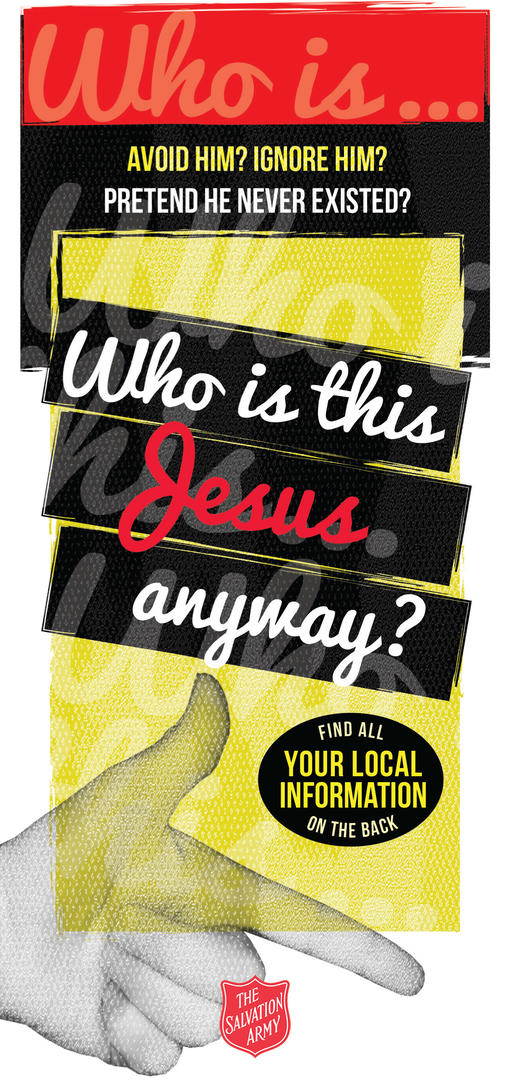 Who is this Jesus Anyway Leaflet Cover