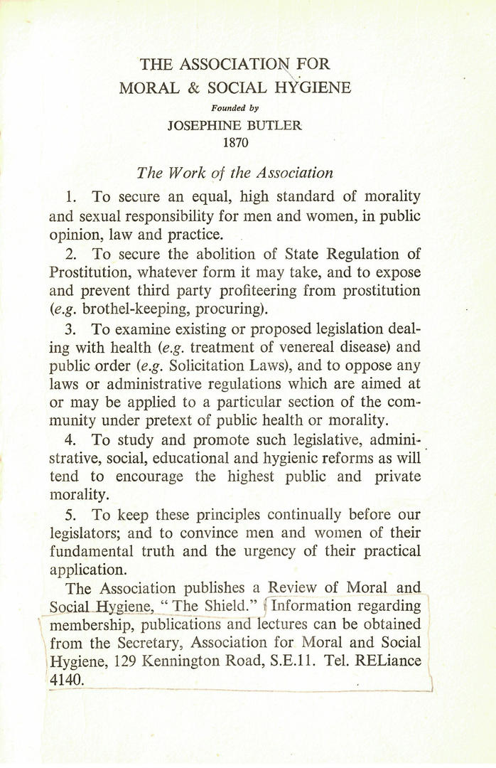 The Association for Moral and Social Hygiene