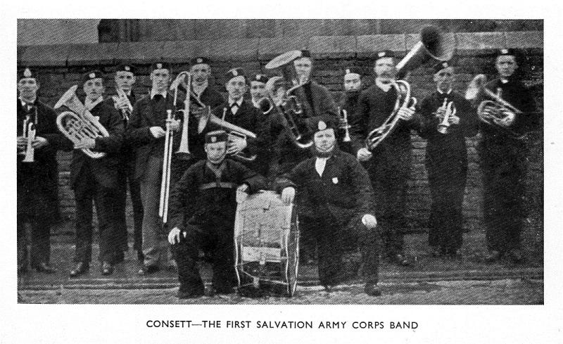 Consett - the first Salvation Army corps band