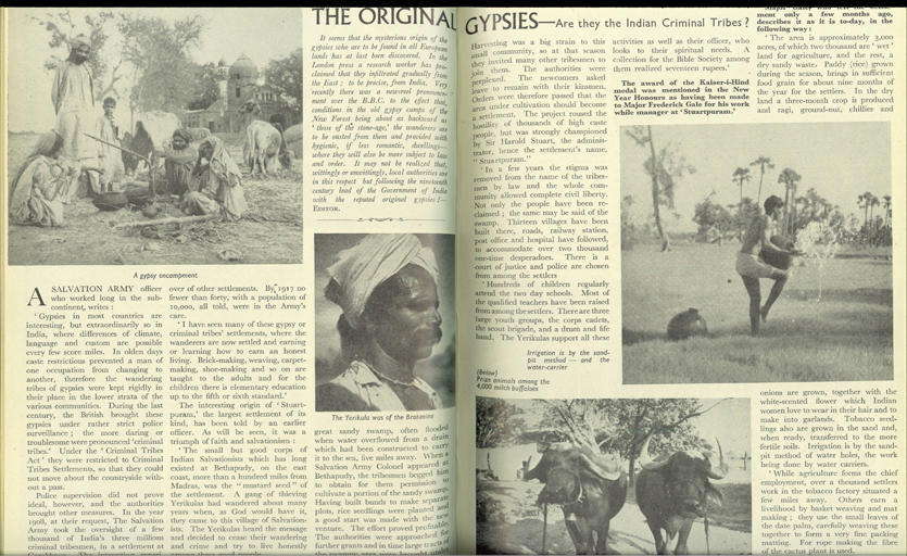 Article from All the World magazine called 'The Original Gypsies'