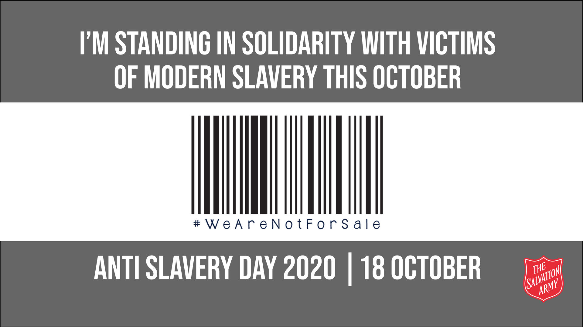 Anti Slavery Day Tweet