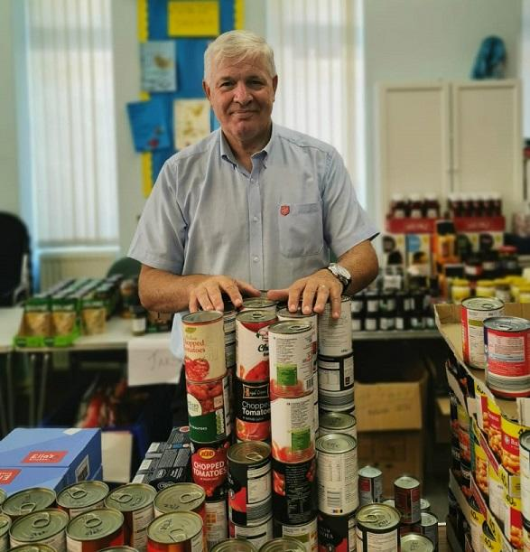 Anthony at Derby food bank