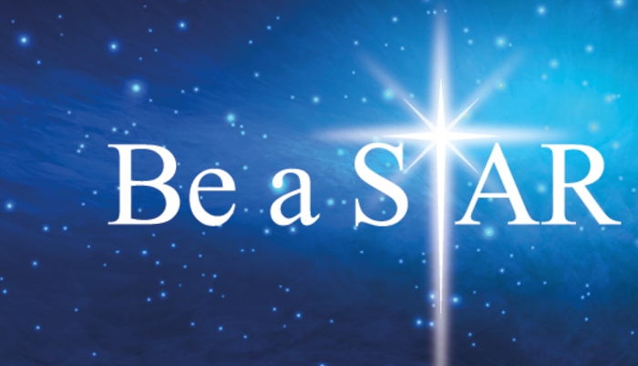 be a star logo nightsky bright star