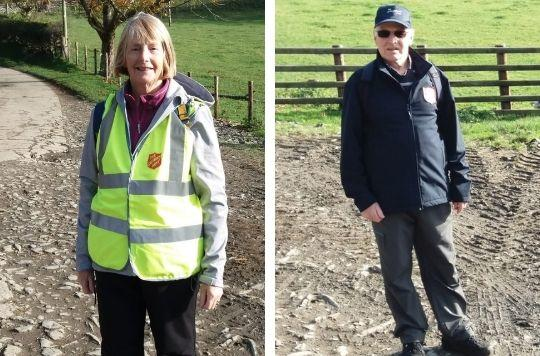 Coedpoeth Corps couple raise £500 on sponsored walk