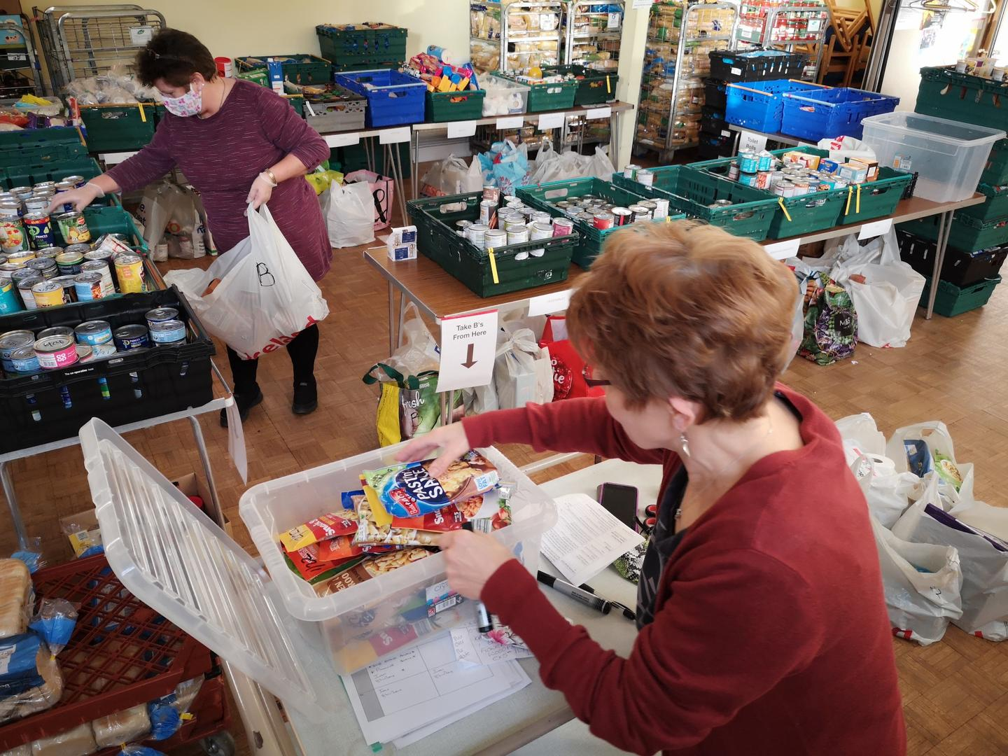 Foodbank packing