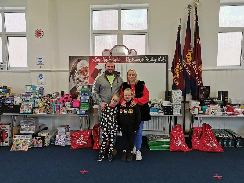 The Smithy Family, donating toys to our Christmas Appeal