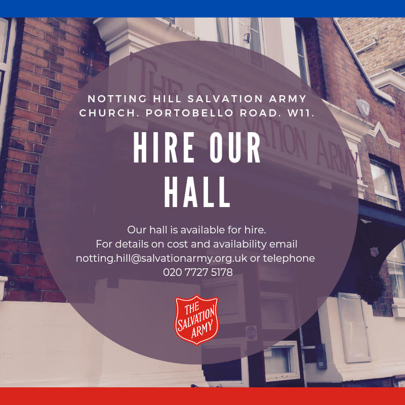 Notting Hill Church Hall Hire
